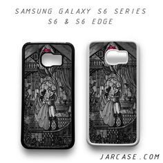 beauty and the beast stained glass Phone case for samsung galaxy S6