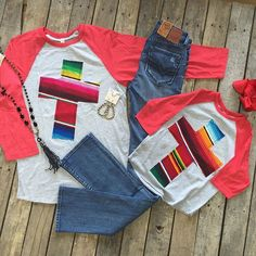 """#NEWARRIVALS  #Serape #Cross #Tee {Adult $48.99 S-XL} {Youth $29.99 YS-YXL} #DearJohn #Hybrid #Skinny #Bootcut $74.99 25-28 #PinkPanache #Necklace $76.99 & #Earrings $28.99 #Bow $7.99 We #ship! Call to order! 903.322.4316 #shopdcs #instashop #shoplocal #love"" Photo taken by @daviscountrystore on Instagram, pinned via the InstaPin iOS App! http://www.instapinapp.com (09/09/2015)"