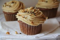 Deep South Dish: Chocolate Cupcakes with Peanut Butter Buttercream Frosting