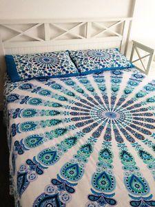 Hippie Bohemian Bedding Set Indian Queen Size Bedspreads Mandala Tapestry Throw | eBay