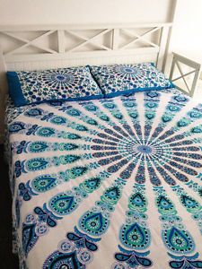 Hippie Bohemian Bedding Set Indian Queen Size Bedspreads Mandala Tapestry Throw | eBay