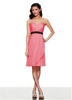 Lovely Chiffon Sweetheart Neckline Short Bridesmaid Dress #Dressilyme