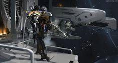 Space Frontiers, Kunrong Yap on ArtStation at https://www.artstation.com/artwork/1L6Ko