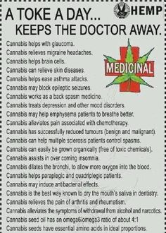 Benefits of a toke a day