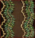 Beetle wing Thread Embroidery: Indian, mid-19th c.