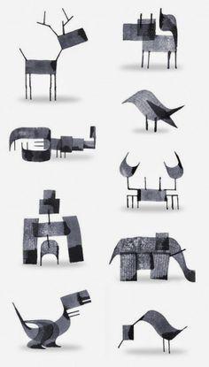 animais caligráficos - caligrafia - tipografia