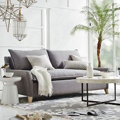 Bliss Down-Filled Sofa #westelm // love this couch. i think a dark grey or blue couch would look awesome in the living room