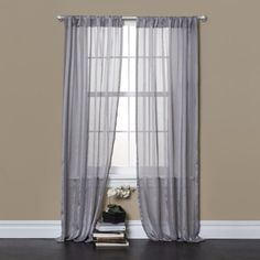 Lush Decor Rhythm Window Curtains Gray Set of 2 -- Want to know more, click on the image. Note: It's an affiliate link to Amazon.