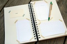 The Creative Place: DIY :: Printable Library, Graph and Notes Cards