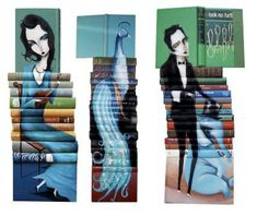 Stacked Book Portraits: The Mike Stilkey Book Sculptures Have a Novel Design