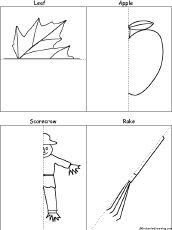 Finish the Symmetrical Drawing Printouts, 4 Pictures - EnchantedLearning.com