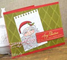 Merry Christmas To All Card by Nichole Heady for Papertrey Ink (September 2012)