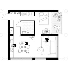 7 Modern House Plans Samples – Modern Home Tiny House Cabin, Small House Plans, House Floor Plans, Apartment Layout, Small Apartment Plans, Studio Apartment Plan, Espace Design, Small Floor Plans, Cottage Plan