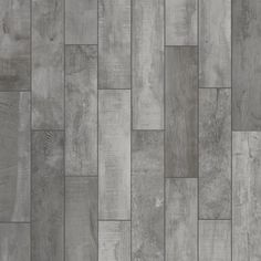 Florida Tile Home Collection Wind River Grey 6 in. x 24 in. Porcelain Floor and Wall Tile sq. / - The Home Depot Wood Look Tile Bathroom, Grey Kitchen Tiles, Grey Bathroom Floor, Wood Look Tile Floor, Grey Wood Tile, Grey Floor Tiles, Wall Tile, Bathroom Flooring, Bathroom Ideas