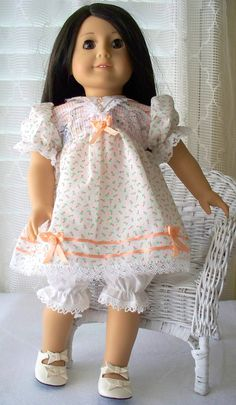 American Girl Doll Clothes Peach Baby Blossoms by WhisperingOak