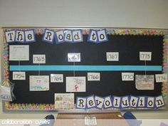 Social Studies Interactive Bulletin Boards | ... Tricks of the Trade- Bulletin Board Creation...interactive timelines