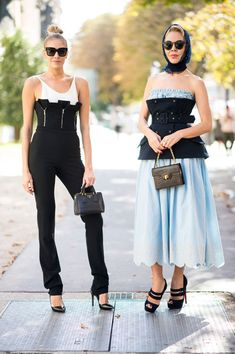 Corset Inspired - Ridiculously Chic Street Style at Paris Fashion Week - Photos