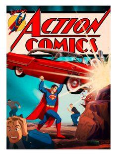 Action Comics 1 Superman Print by Des Taylor Bottleneck NYCC Preorder Dc Comics, Superman Action Comics, Superman Comic, Funny Comics, Batman, Superman Love, Superman Man Of Steel, Superman Stuff, Superman Family