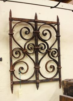 Beautiful antique wrought iron window grille