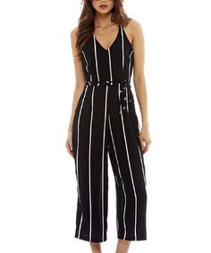 d76bf121d09 AX Paris Black   White Stripe Sleeveless Jumpsuit