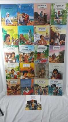 Vtg People of The Bible Lot of 21 Children's Sunday School Books Picture Bible