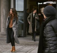 Three's a cool crowd! Also spotted with him was Alicia Vikander - his co-star of The Danis...