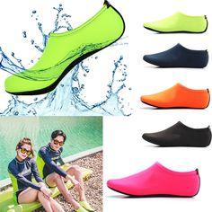 7d63b5e44766 Men Women Skin Water Shoes Aqua Beach Socks Yoga Exercise Pool Swim Slip On  Surf Girls
