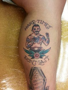 Traditional Bare Knuckle Boxer Tattoo by Steve Rieck Las Vegas