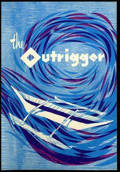 1965 Souvenir menu, front cover  souvenir menu from Outrigger- Surf & Sand, Laguna Beach, CA