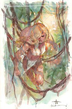 Shanna The She Devil 2008 Painted Art by Gabriele Dell'Otto Bill Sienkiewicz | eBay