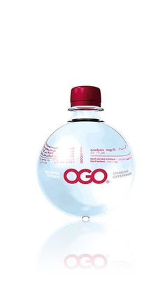 Ogo water. Save these bottles for Christmas ornaments IMPDO.