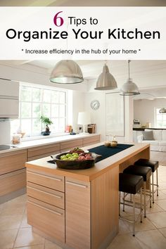 The hub of the home gets a lot of traffic - and is a magnet for chaos. An organized kitchen will be very important to getting things done with efficiency.