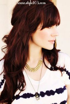 Brown/red hair - IF I ever dye my hair again this is the color I want!!!