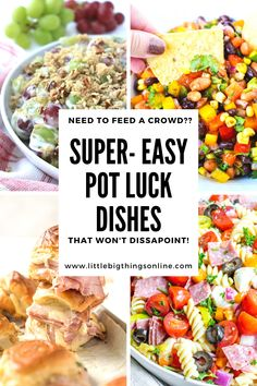 Potluck Desserts, Potluck Dishes, Potluck Recipes, Dinner Dishes, Easy Dinner Recipes, Simple Recipes, Potluck Ideas, Crockpot Side Dishes, Vegetarian Side Dishes