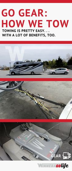 RV Gear: How to tow a car behind your motorhome. This RVer shares his experience + tips for choosing. Camper Life, Rv Life, Campers, Camper Van, Camping Essentials, Camping Gear, Camping Trailers, Camping Survival, Motorcycle Camping