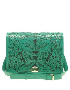 Turquoise tooled leather purse
