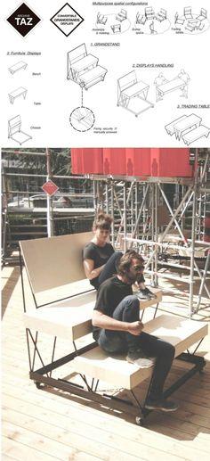 Ingenioso mobiliario DIY / Vía archivetaz.org y todoporlapraxis.es