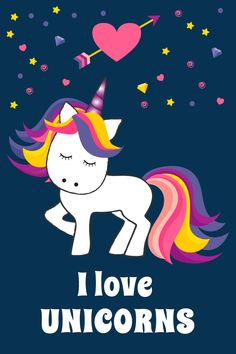 Make your own unicorn themed posters with this unicorn clip art set...