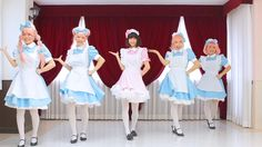 ✶-- Dance Cover ♪♫ ('odottemita' - '踊ってみた' - 'I tried dancing') --✶ 'LOVE×LOVE Whistle' Vocaloid dance cover by colorful cosplay maid girls with amazing dance skills, kawaii cosplay dance