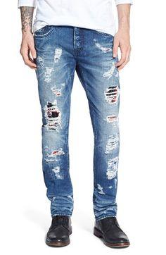 PRPS 'Demon - Umeko' Destroyed Slim Straight Leg Jeans (Light Blue) available at #Nordstrom