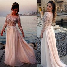 Long Sleeves Prom Dresses,Sexy Prom Dresses,See-through Prom Dresses, – LoverBridal