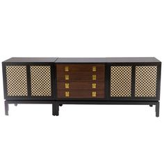 Monteverdi-Young Two-Piece Credenza or Buffet, circa 1958  | From a unique collection of antique and modern credenzas at https://www.1stdibs.com/furniture/storage-case-pieces/credenzas/
