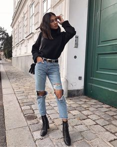 Timeless And Comfy Jean Outfits For Travelling Trendy Outfits, Cute Outfits, Fashion Outfits, Travel Outfits, Easy Style, Outfits Winter, Oufits Casual, Casual Jeans, Outfit Invierno