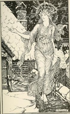 venusmilk:  The Pink Fairy Book, Illustrations by Henry Justice Ford
