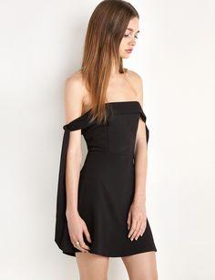 Anika Arm Sleeve Tie OTS Dress by New Revival