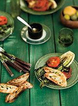 Salade de laitue romaine grillée au barbecue