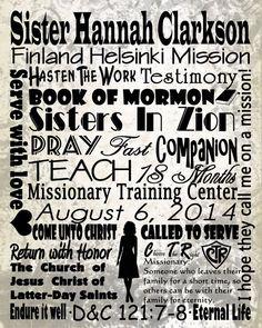 Personalized LDS Sister Missionary Subway by SubZeroDigitalDesign