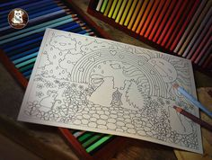 Whatever The Weather Colouring Page