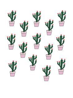 catus graphic pink illustration