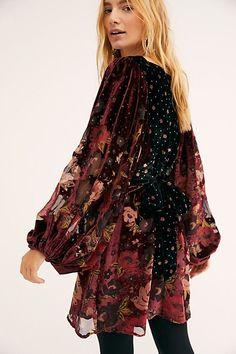 b900124e2a8b Last Letter Burnout Velvet Mini Dress - Velvet Floral Burnout Mini Dress -  Red Velvet Long